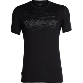 Icebreaker Tech Lite Coronet Peak t-shirt Heren zwart